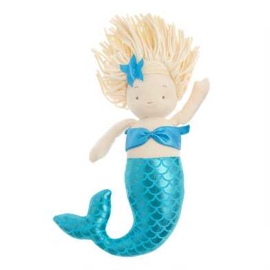 Bunnies by the Bay Plush Stuffed Mermaid