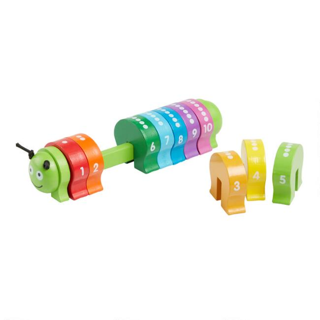 Melissa and Doug Counting Caterpillar Classic Wood Toy