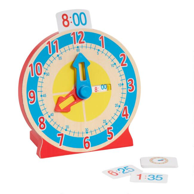 Melissa and Doug Turn and Tell Wooden Clock Toy