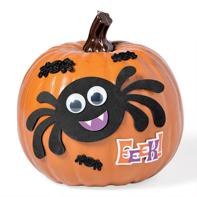 Spider Pumpkin Decorating Kit 9 Piece