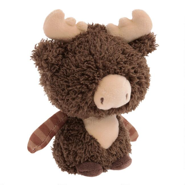 World Market® Critters Mini Stuffed Plush Moose