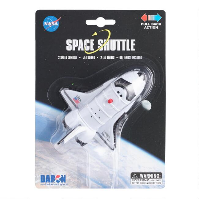 NASA Space Shuttle Pullback Toy with Lights and Sound