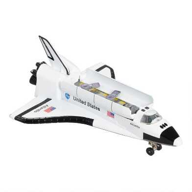 Die Cast NASA Space Shuttle Pullback Toy