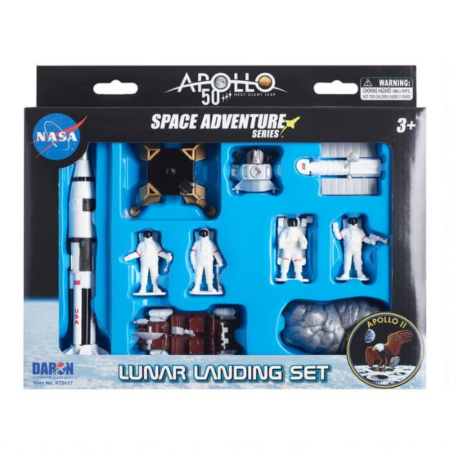 Apollo 50th Anniversary Lunar Landing 9 Piece Playset