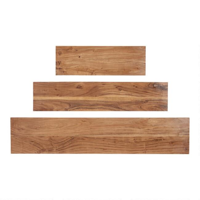 Acacia Wood Mix & Match Wall Shelves
