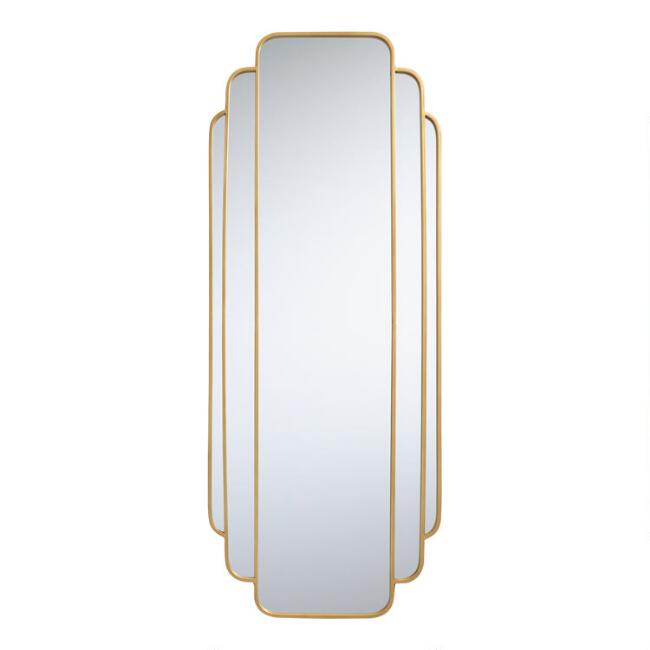Gold Art Deco Full Length Mirror