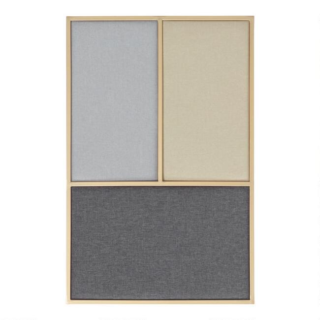 Gold Multicolor Linen Bulletin Board