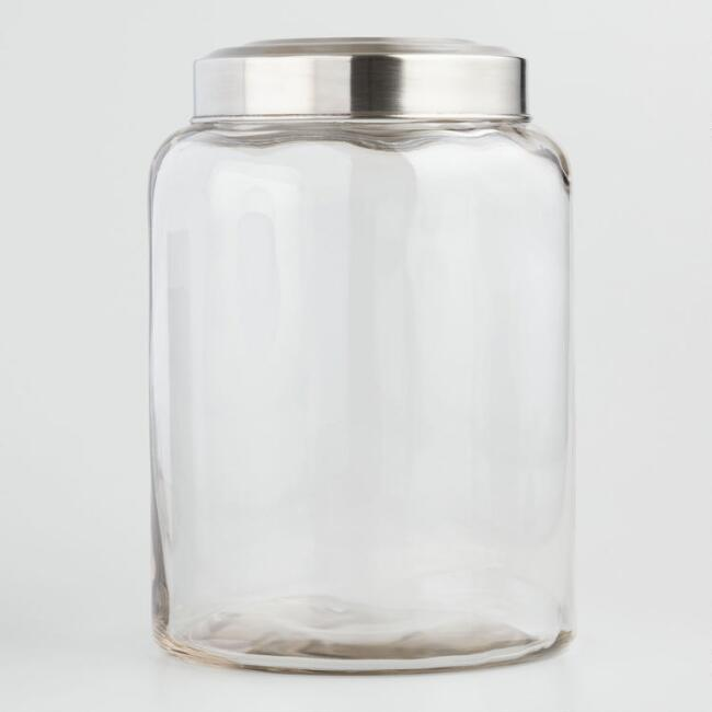 Large Glass Kitchen Jar
