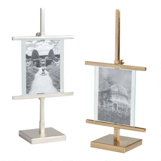 Matte Metallic Adjustable Easel Frame