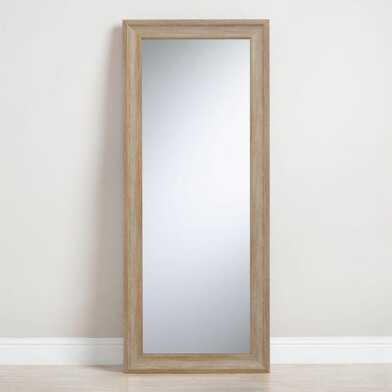 Light Natural Leaning Full Length Floor Mirror