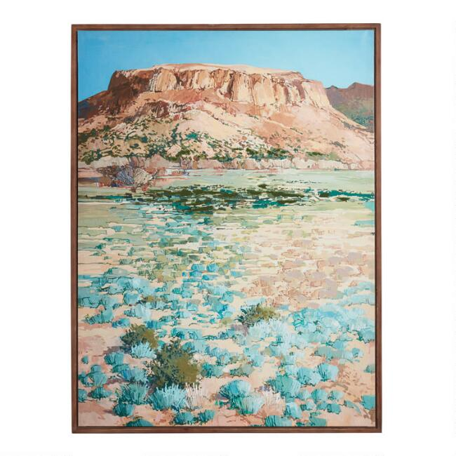 Desert Plateau by Douglas Atwill Framed Canvas Wall Art