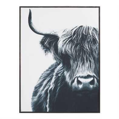 Bull by Mariusz Moreau Framed Canvas Wall Art