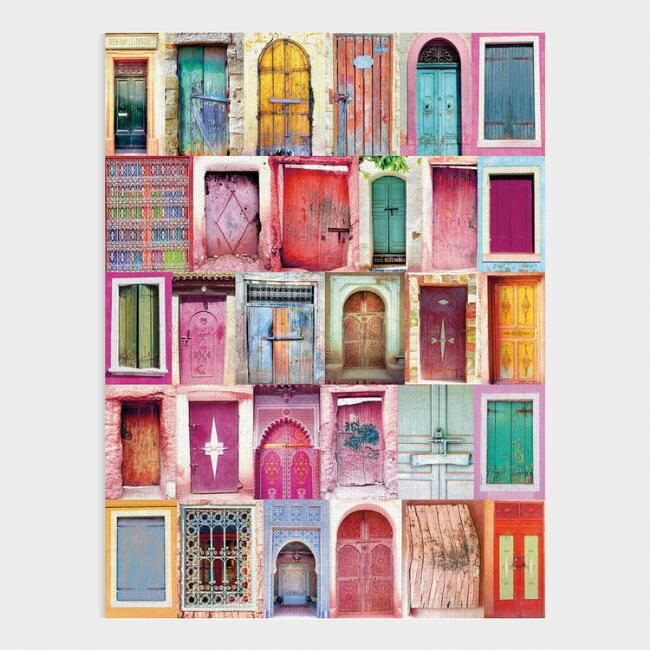 Global Doorways Framed Canvas Wall Art