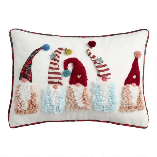 Winter Gnomes Lumbar Pillow