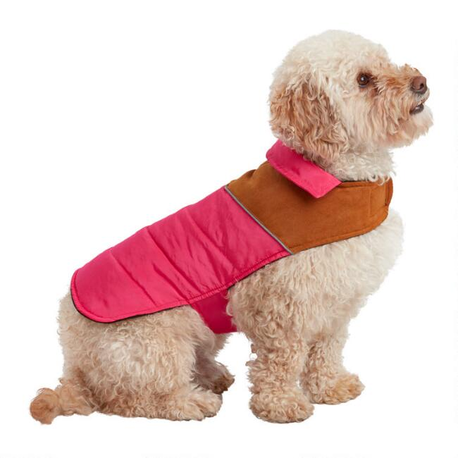 Small Pink Retro Dog Vest