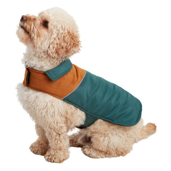 Small Green Retro Dog Vest