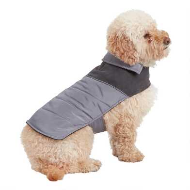 Small Gray Retro Dog Vest