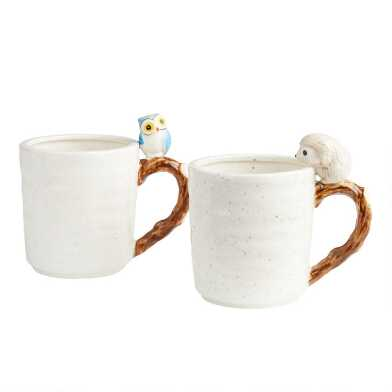 Speckled White Woodland Creature Mug