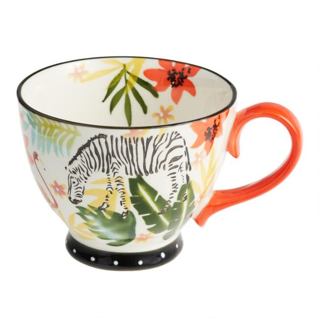 Multicolor Hand Painted Safari Mug