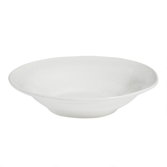 White Italian Serving Bowl
