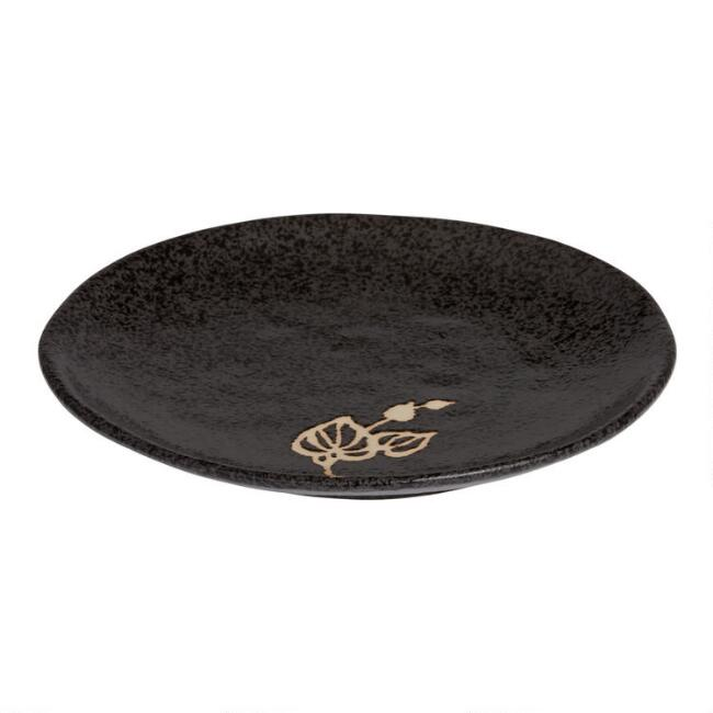Black Zen Salad Plates Set Of 4