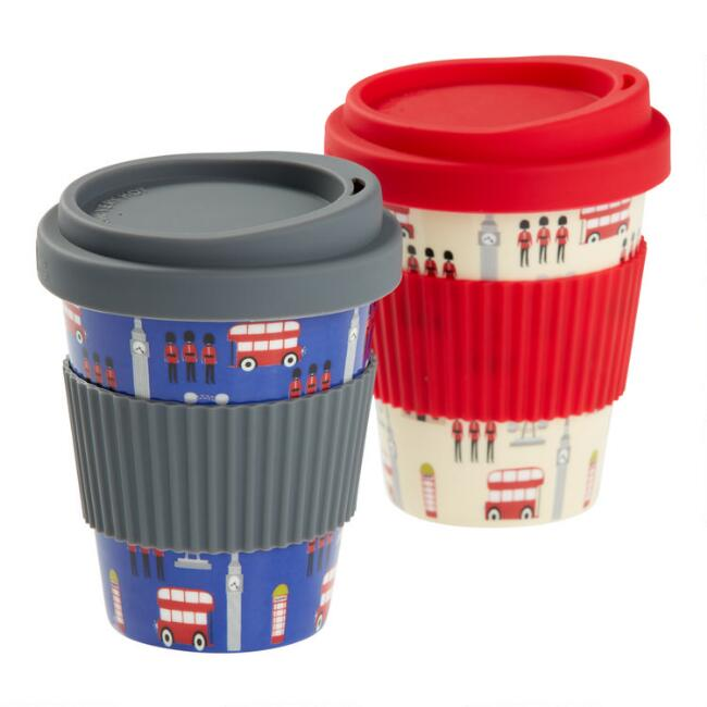 London Porcelain Travel Not A Paper Cup Set Of 2