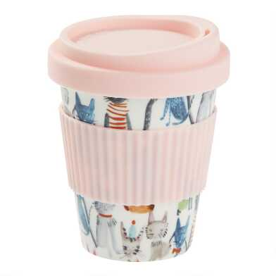 Watercolor Cats Porcelain Travel Not A Paper Cup