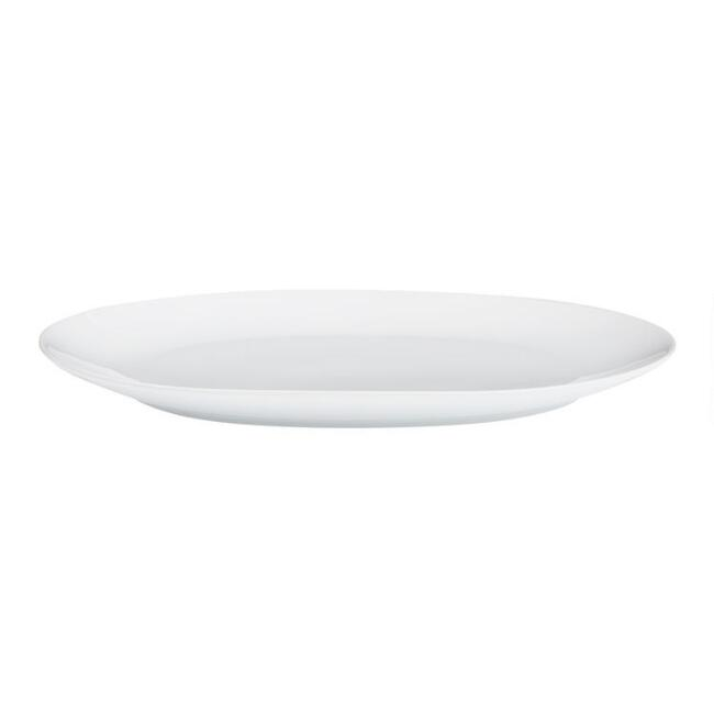 Small White Coupe Serving Platter