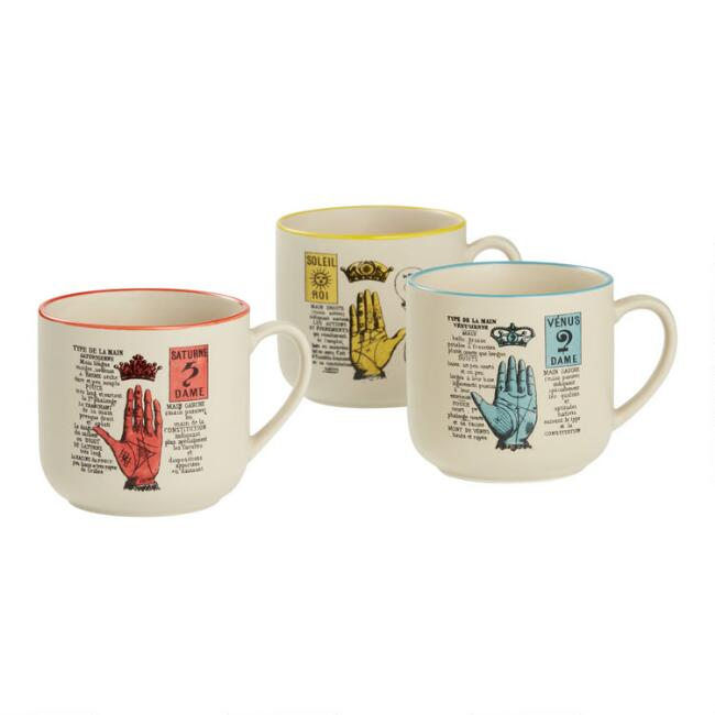 Palmistry Mugs Set Of 3