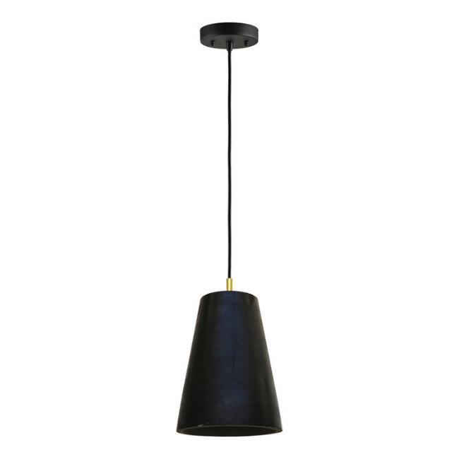 Black Concrete Cone Pendant Lamp