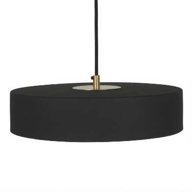 Black Iron And Brass Circle Kingsley Pendant Lamp