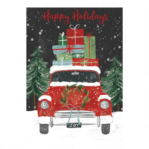 Boxed Christmas Cards.Vintage Car Boxed Christmas Cards Set Of 15