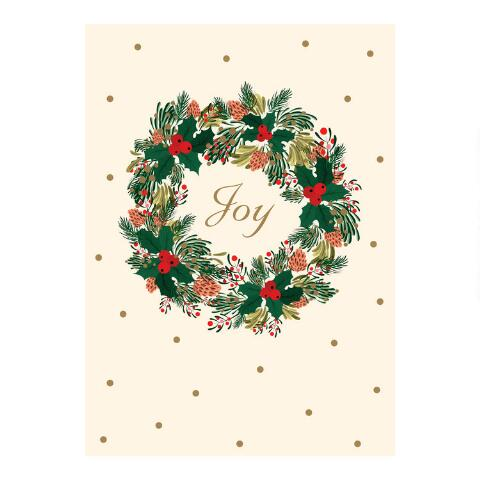 Boxed Christmas Cards.Joy Wreath Boxed Christmas Cards Set Of 15