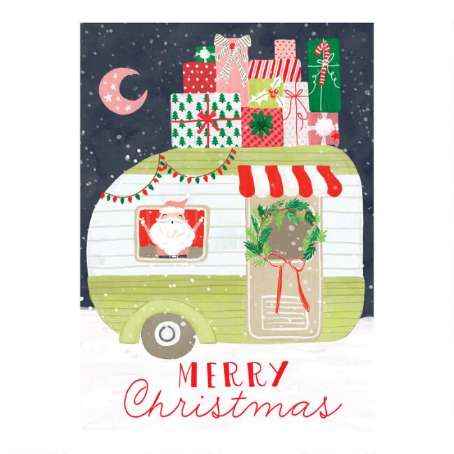 Merry Christmas Camper Boxed Christmas Cards Set of 15