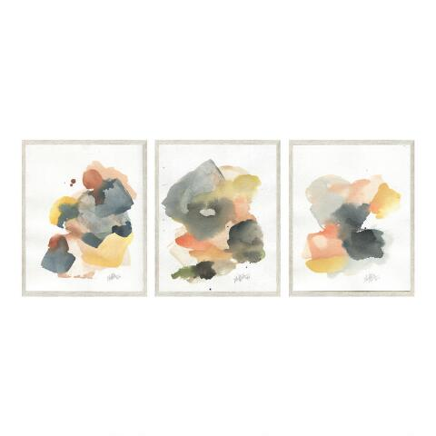Sunset By Ellen Sherman Framed Canvas Wall Art Set Of 3