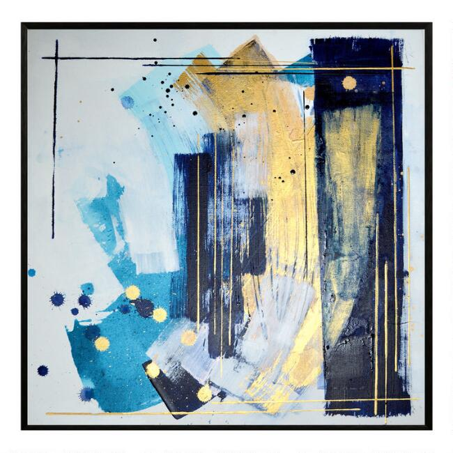 Submarine Abstract Framed Canvas Wall Art by World Market