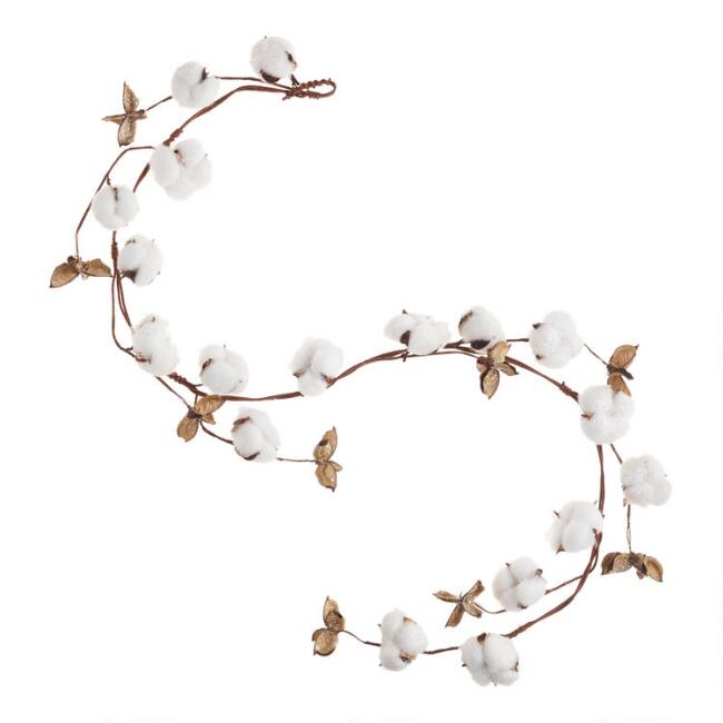 Icy Faux Cotton Garland