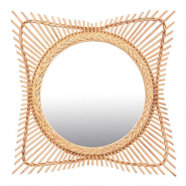 Natural Rattan Polaris Mirror
