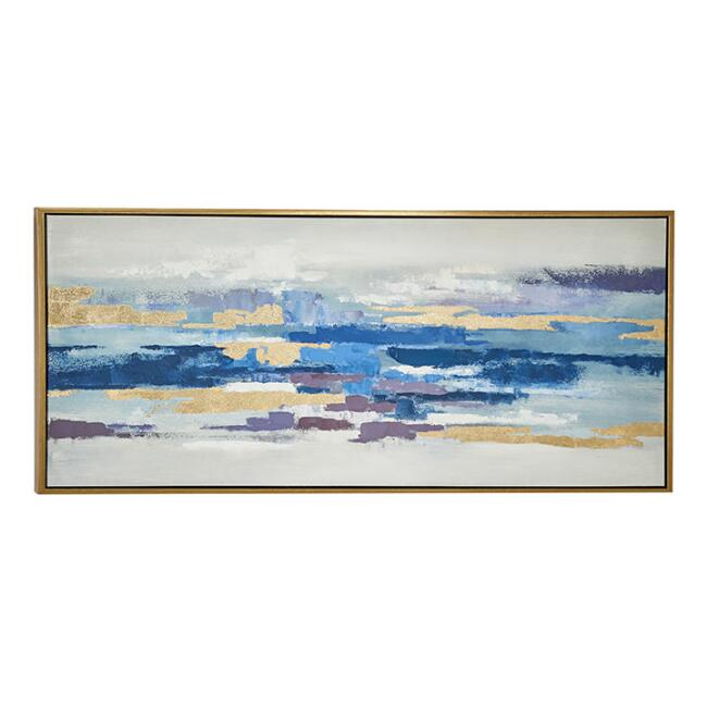 Multicolor Abstract Landscape Framed Canvas Wall Art