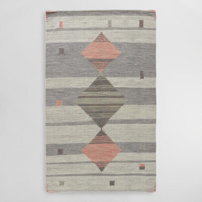 Gray And Pink Chaya Area Rug