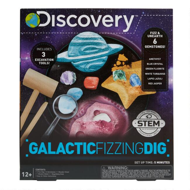 Discovery Galactic Fizzing Dig Gemstone Science Kit