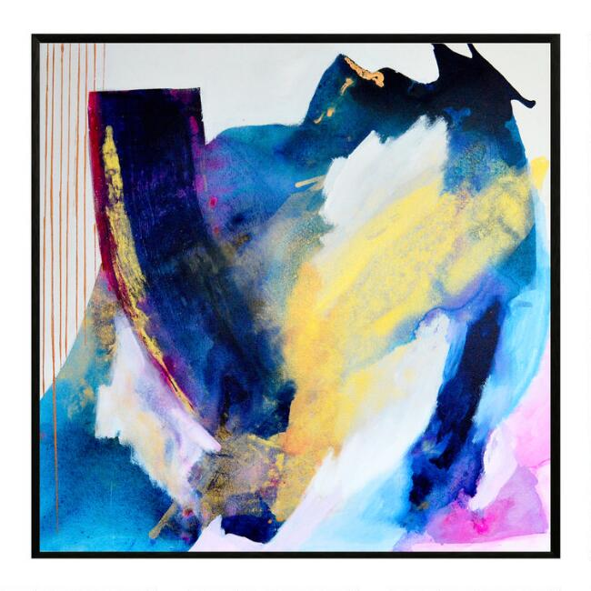 Cambria Abstract Framed Canvas Wall Art