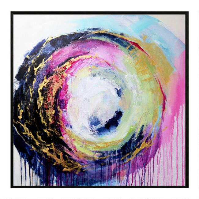 Way Back When Abstract Framed Canvas Wall Art