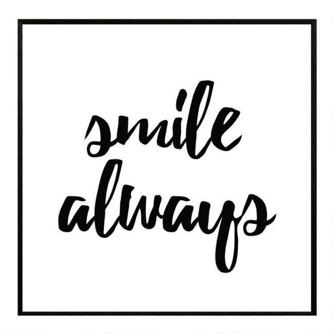 Smile Always Framed Canvas Wall Art