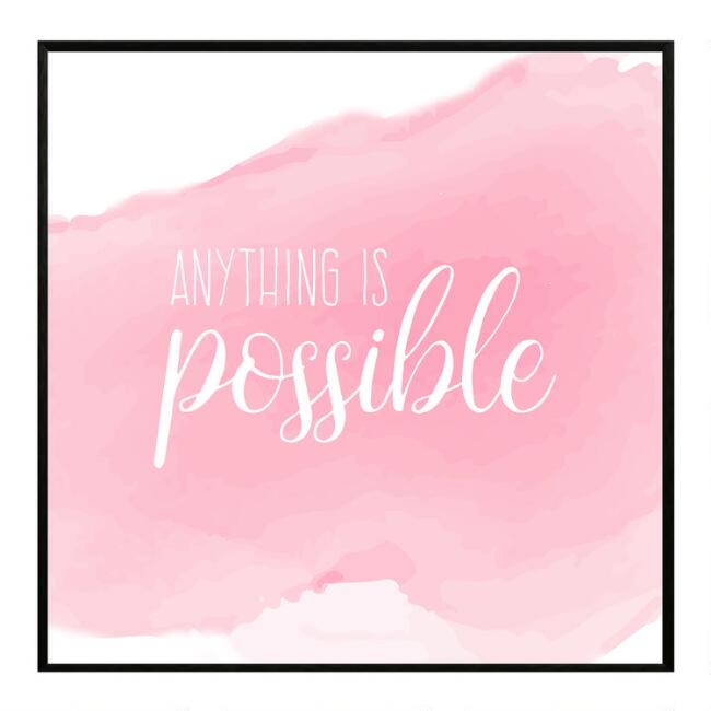 Anything Is Possible Framed Canvas Wall Art
