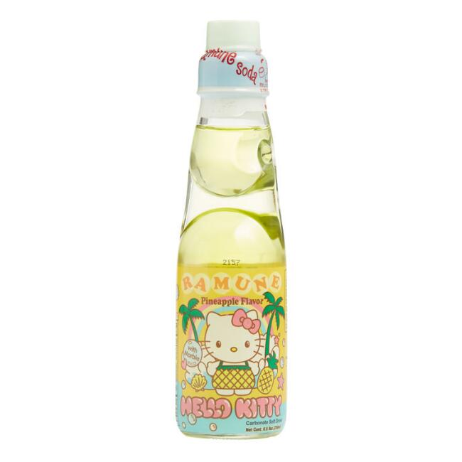 Hello Kitty Ramune Pineapple Soda