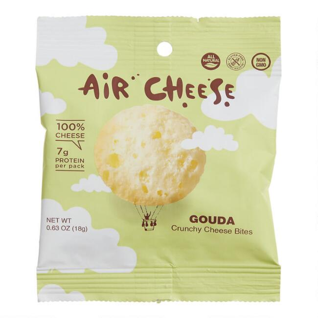 Air Cheese Gouda Crunchy Cheese Bites Snack Size Set of 6