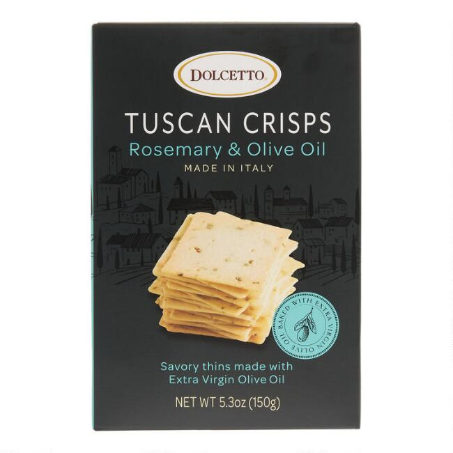 Dolcetto Rosemary and Olive Oil Tuscan Crisps