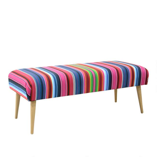 Serape Stripe Zenna Upholstered Bench