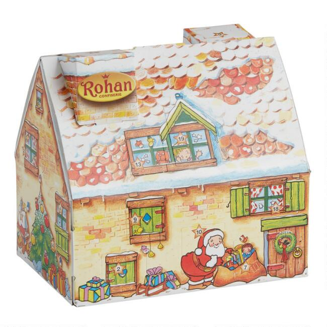 Confiserie Rohan Chocolate Holiday Cottage Advent Calendar
